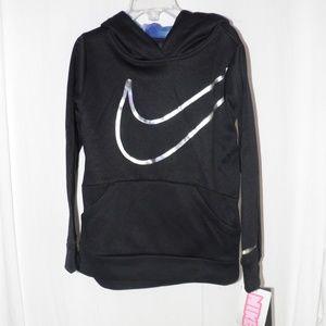 Nike Therma Fit Girls Black Hoodie Sweatshirt 6